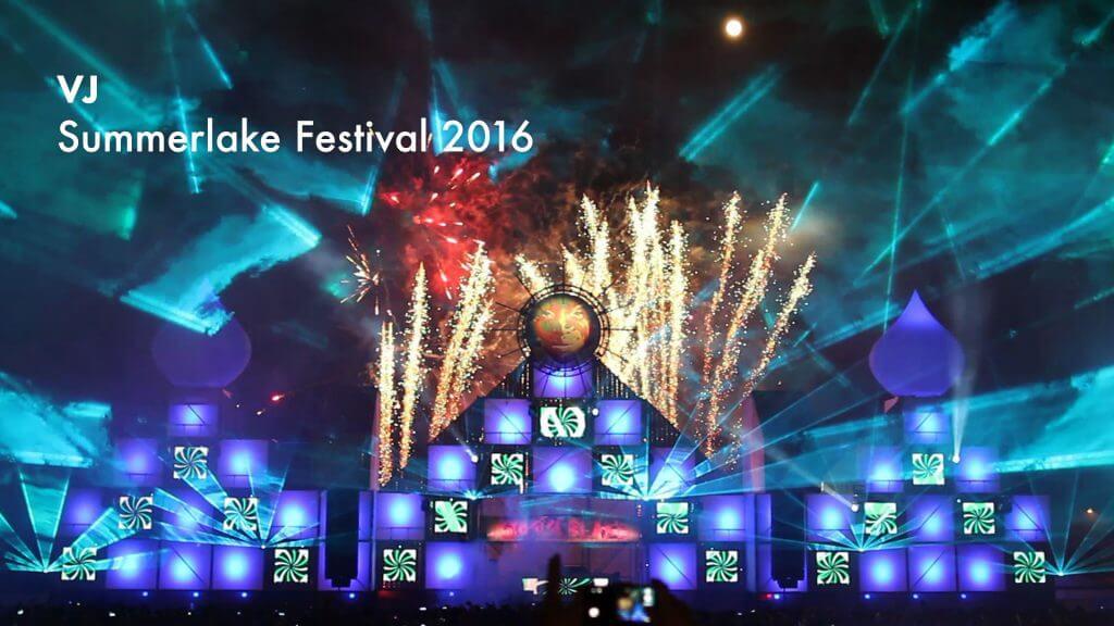 VJ gig – Summerlake Festival 2016