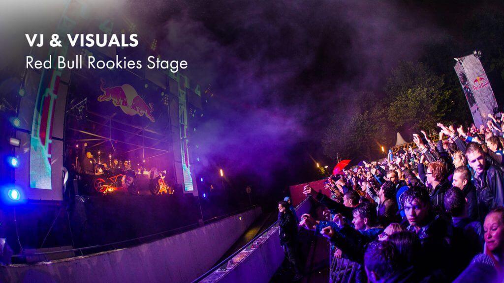 VJ gig – Red Bull Rookies Stage TT