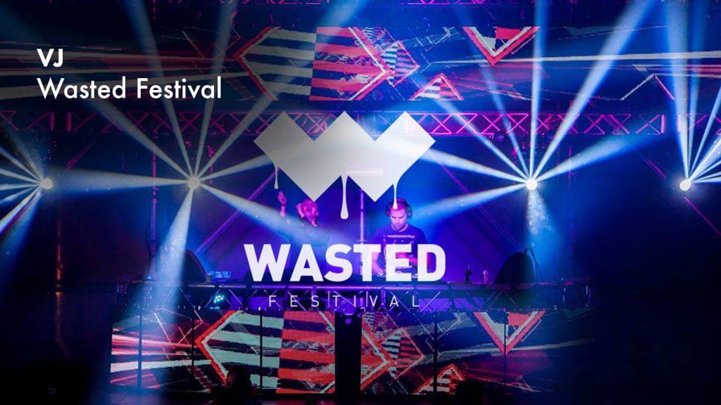 VJ gig Wasted Festival 2015